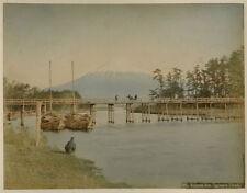 Photo Kimbei Kusakabe Albuminé Fujiyama Japon Japan Vers 1880