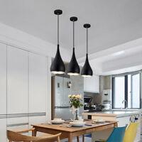 Black Pendant Light Bar Lamp Kitchen Chandelier Lighting Bedroom Ceiling Lights