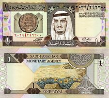 SAUDI ARABIA 1 Riyal Banknote World Paper Money UNC Currency Pick p-21d King