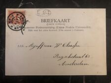 1901 Amsterdam Holland Postal Stationary Cover Netherlands Indies 2 1/2cent