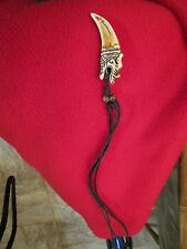 Tibetan monk style buddhist dragon claw  biker  pendant fang tooth necklace