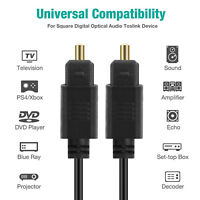 1M 2M 3M Digital Audio Optical Cable Toslink SPDIF Cord Surround for Blu-ray PS4