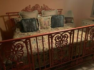 Wrought Iron Headboard and Footboard