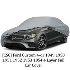 [CSC] Ford Custom 4-dr 1949 1950 1951 1952 1953 1954 4 Layer Full Car Cover