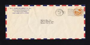 UC6, UPSS #AM27-41 USED Envelope with PRIVATE AIR MAIL BORDER