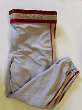 NOS Vtg '80's Rawlings Men's Baseball Pants Large 36-38 GrayCardinalGold USA
