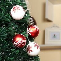 24 PCS 6 CM Painted Ball Christmas Tree Baubles Decoration Adorn Home Hotel Mall