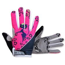 Cat girl Women's Winter Riding Cycling Bike Bicycle 3D GEL Full Finger Gloves