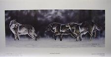"Randy FEHR LTD art print Wolf Pack mint print Certificate COA ""On The Move"""