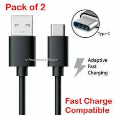2 PACK 10FT Type C Fast Charging Cable USB-C Rapid Cord Power Quick Charge Black
