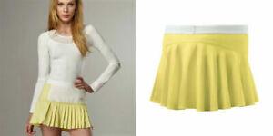Nwt Adidas Stella McCartney Tennis Skirt pleated M Medium 40 yellow white