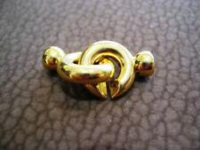 Ketten Verschluß Ringverschluß Schmuckverschluß Neu Silber 925 Vergoldet