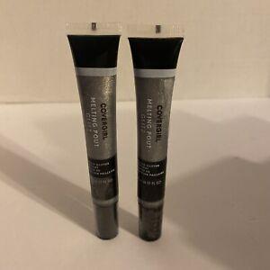 CoverGirl Melting Pout Glitz Glitter Topcoat Lip #405 Double Platinum Lot of 2