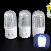 US/EU Plug LED Wall Mounted Plug-in Emergency Night Light Home 3W Bedside Lamp