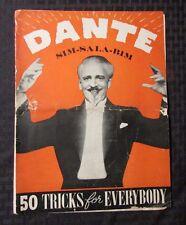 1940 DANTE Sim-Sala-Bim Master Magician Magazine GD- 50 Tricks For Everybody