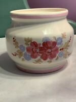 Vintage FTD Planter White with Pink Flowers 1981