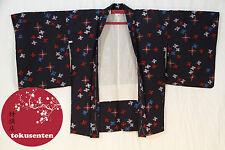 Kimono Haori Japonais BLEU Véritable Import Japon NEUF NEW LAINE WOOL