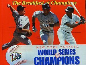 WHEATIES FLAT CEREAL BOX YANKEE WORLD CHAMPIONS 1998 JETER, WELLS & WILLIAMS EXC