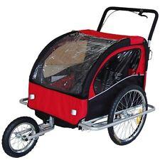Convertible Jogger Remorque à Vélo 2 en 1, pour enfants - Rouge/Noir