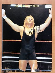 Mr Perfect Curt Hennig & Rowdy Roddy Piper Signed  Autographed Magazine Photo