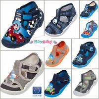 Slippers for Boys Infant Spring Summer Shoes Kids Canvas LEATHER Insole Size 3–7