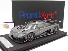 """FrontiArt F033-55 # Koenigsegg One:1 Baujahr 2014 in """" Carbongrau Pink """" 1:18"""