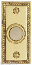 Heath Zenith Door Bell Chime Wired White PUSH BUTTON Solid Brass Recessed Mount