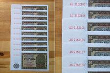 10 Stück 20 Mark 1948 UNC. *** mit fortlaufenden Seriennummern !
