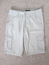 GEORGE - LIGHT BROWN  2 SIDE POCKET, LONG ,CARGO ,ZIP FLY  SHORTS SIZE 30 WAIST