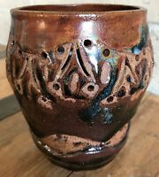 Nice Vintage 60s 70s Ceramic Stoneware Art Pottery Vase Retro Mid Century Modern