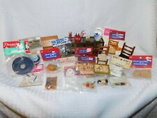 Doll House Miniatures Assorted Lot- Furniture and Sealed Accessories