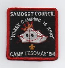 1984 Camp Tesomas (Samoset Council) Patch, Mint!
