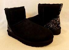 UGG Australia Classic Mini Liberty Black Boots US 7/ 38 (Fits US 8) New 1016340