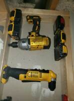5x5 ComboPack Dewalt 20V 5 Tool Holders and 5 Battery Holders