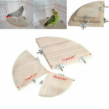 Parrot Bird Wood Cage Perches Platform Stand Rack HangingChew Toy For Pet Budgie