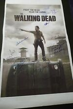 """THE WALKING DEAD Cast(x10) Hand-Signed 20x30 Canvas """"Norman Reedus""""(EXACT PROOF)"""