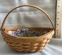 LONGABERGER LITTLE Crocus Basket, Liner and Protector 2002 NO RESERVE!!