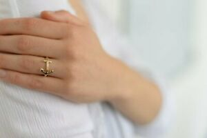 Anker Ring - Silberner oder Goldener Ring im maritimen Stil