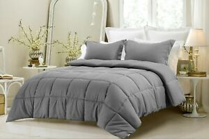 1000 TC Down Alternative Comforter 300GSM & 400GSM Striped Color All Sizes