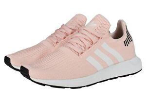 ADIDAS Swift Run womens running trainers B37681 Icey Pink Cloud White Core Black