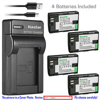 Kastar Battery Slim Charger for Canon LP-E6 LP-E6N LC-E6 & Canon EOS 80D Camera