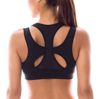 fashion High Impact Double Layer Wirefree Padded Racerback Sports Bra XS~XXL