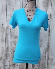 AMERICAN APPAREL Women's Size XXS New Short Sleeve T-Shirt BLUE
