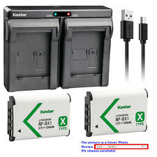 Kastar NP-BX1 Battery Charger for Sony Cyber-shot DSC-HX50V HX300 DSC-RX1 RX1R