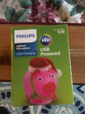 Philips Christmas Lion LED Lighted Decoration USB Powered Color Changing NEW NIB