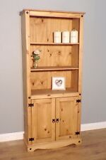 CORONA 2 Door Bookcase Large Mexican Solid Pine by Mercers Furniture