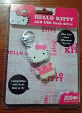 NEW SEALED Hello Kitty 4GB USB Keychain Flash Drive Compatible with PC or Mac.