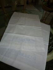 2 White Standard pillowcases for Embroidery Janlynn BUTTERFLY theme Excellent OP