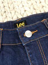 Lee jean shorts size 10 denim dark blue high waisted