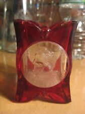 Rare Vintage EAPG? Red Ruby Columbus Vespucius Glass Toothpick Holder 1892